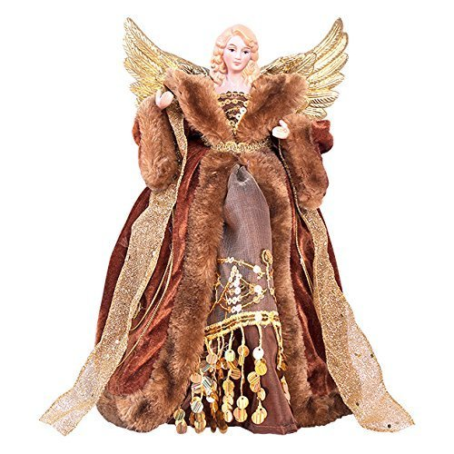 The Christmas Workshop 81840 12-Inch 30 cm Traditional Top Angel Christmas Tree, Copper
