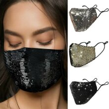 Reusable & Washable Anti-Dust Sequin Face Mask