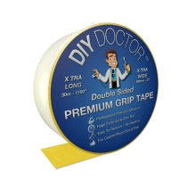 DIY Doctor Xtra Strong Xtra Wide Double Sided Carpet Rug Gripper Tape Ultimate Grip Strength Bonds to Almost Anything