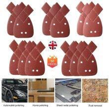 50 Mouse Sanding Sheets Fit Black Decker Detail Palm Sander All Grades