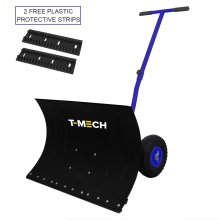 Heavy Duty Adjustable Snow Plough Shovel With Wheels Manual Ice Shover