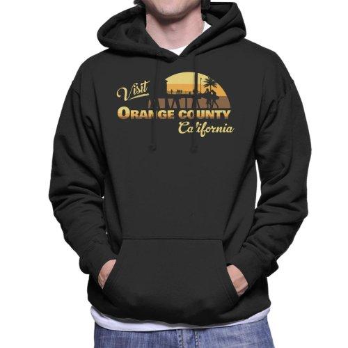 Visit Orange County California Men's Hooded Sweatshirt