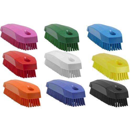 Vikan 6440n Stiff Nail Scrubbing Brush Clean Bathroom Kitchen Upholstery Fabric
