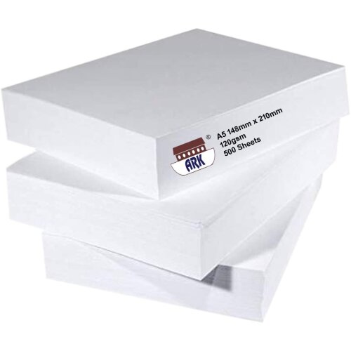 ARK Plain A5 High Quality Office Printing Paper 120gsm (500 Sheets)