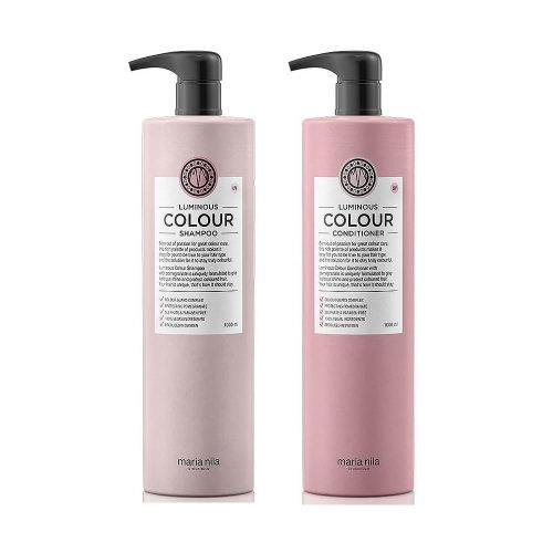Maria Nila Luminous Colour Shampoo and Conditioner Set 1Ltr