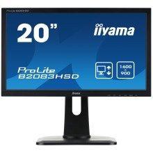 "Iiyama Prolite B2083hsd-b1 19.5"" Hd+ Tn Matt Black Computer Monitor Led Display"