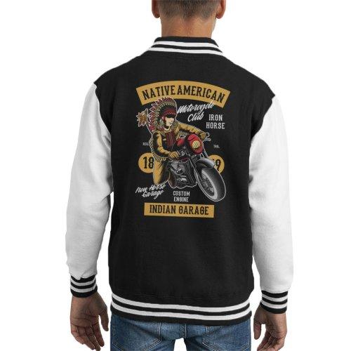 Native American Indian Garage Biker Kid's Varsity Jacket