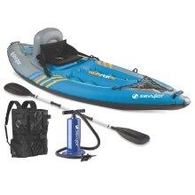"""Sevylor Unisex's 2000014137 Quikpak K1 One Person Kayak, Blue, 8'7"""" x 3'"""