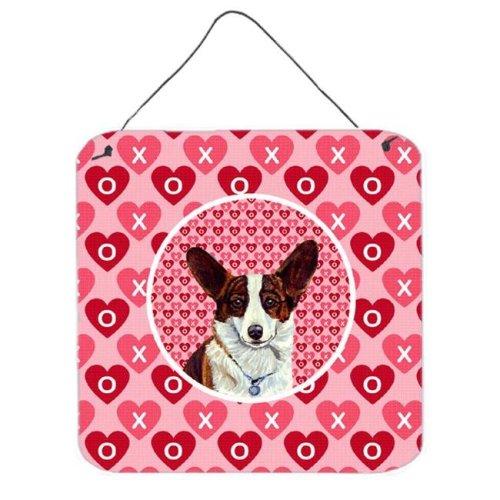 Corgi Valentines Love And Hearts Aluminium Metal Wall Or Door Hanging Prints