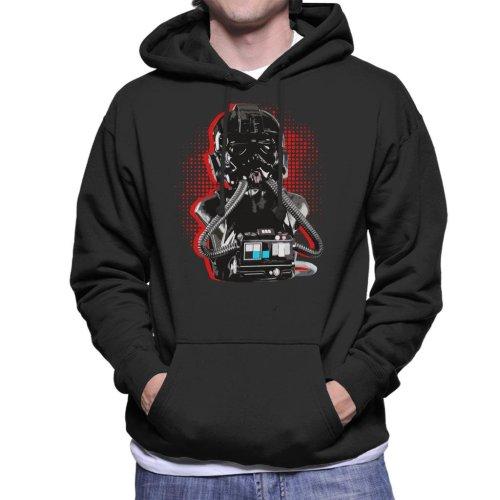 Original Stormtrooper Imperial TIE Pilot Red Burst Men's Hooded Sweatshirt