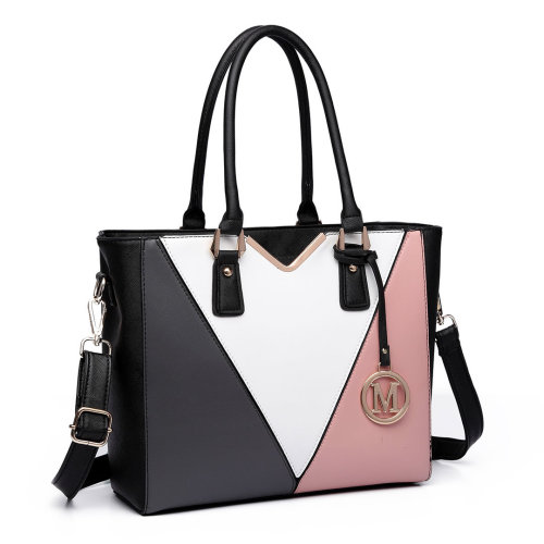 Miss Lulu Women Leather Handbag V Shape Shoulder Tote Bag