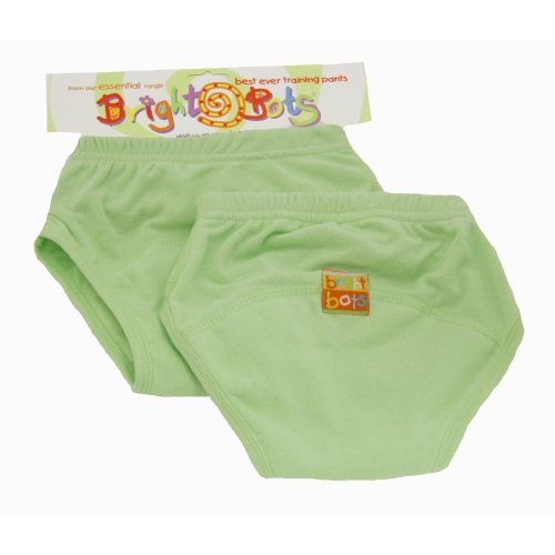Bright Bots 2pk Washable Training Pants P/Green