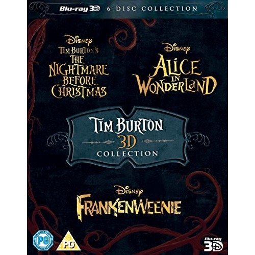 Tim Burton - The Nightmare Before Christmas / Alice In Wonderland / Frankenweenie 3D Blu-Ray [2015]