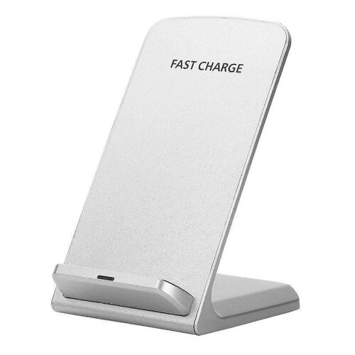 Apple iPhone 7 Wireless White Qi Charger Desktop Stand + Qi Receiver Micro USB