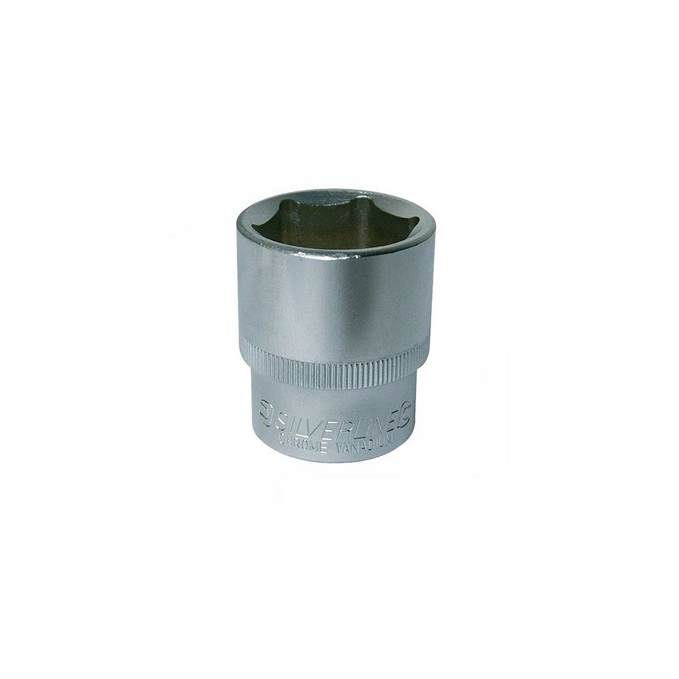 "SILVERLINE 818672 6MM HEX SOCKET STANDARD 3//8/"" SQUARE DRIVE METRIC x 1"