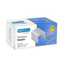 Rapesco 73/12mm Galvanised Staples Ideal for Rapesco Plier Box of 2000