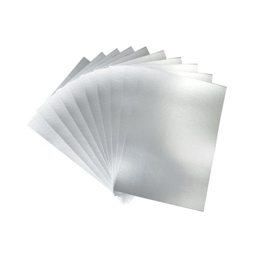 50 Sheets of A4 Silver Card
