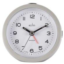 Acctim Neve Non Ticking Sweep Clock Grey [15807]