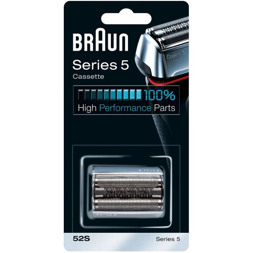 Braun 52S Series 5 Electric Shaver Replacement Foil and Cassette Cartridge - Silver