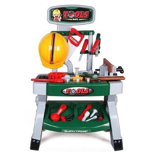 deAO Toys Kids' Workshop Role Play Set | Toy Workshop Bench & Tools