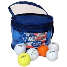 AMERICAN LAKE GOLFERS MATCH QUALITY PRACTICE BALL RECLAIM GOLF BALLS BAG OF 25 ( ***New)