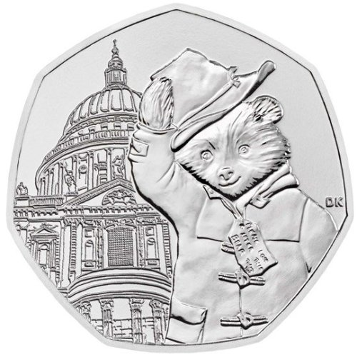 Paddington Bear 50p Coin - At St Paul's Cathedral,UNC from sealed bag