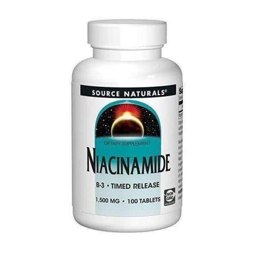 Source Naturals Niacinamide 1500 Mg 100 Tablet