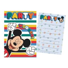 invitation with envelope Mickey Mouse 14.5 cm 5 pieces