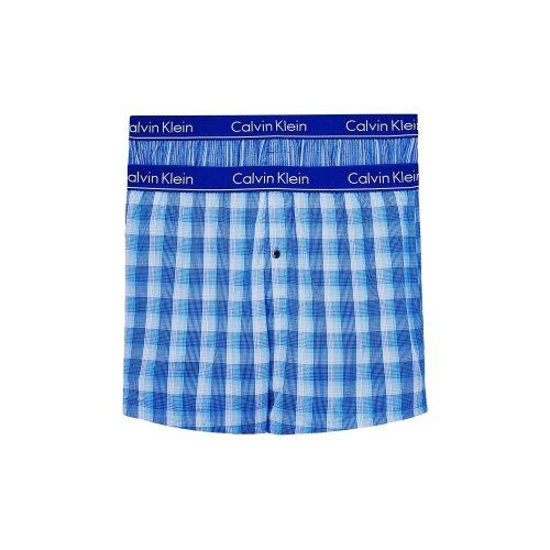 Calvin Klein 2 Pack Slim Fit Boxers : LARK PLAID ATALNTIS - GALLAGH