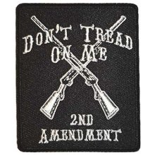 Don't Tread On Me Embroidered Cloth Iron On Patch