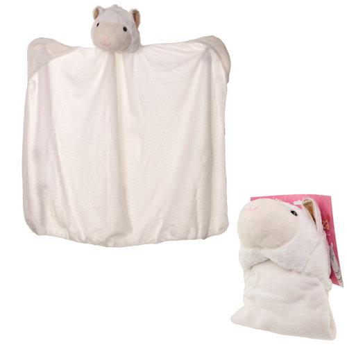 Plush White Llamapalooza Wearable Blanket