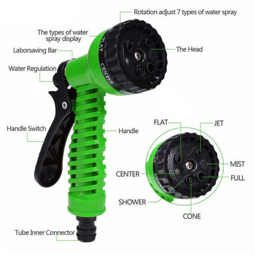 Expandable garden hose with functions image 1
