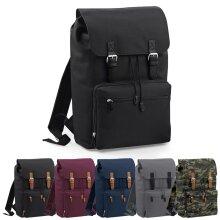 BagBase Plain Vintage Laptop School Work College Travel Backpack Rucksack Bag