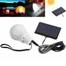 Rechargeable Solar Panel Powered LED Lights Bulb Outdoor Camping Tent Lamp