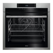 AEG BPE642020M SenseCook Single Built In Electric Oven, Stainless Steel - Used
