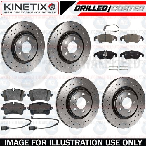 FOR AUDI A6 2.0 TDI FRONT REAR DRILLED BRAKE DISCS PD PADS 300mm 320mm FR RR