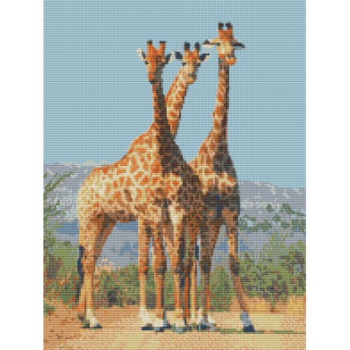 Giraffes Africa 14 count Counted Cross Stitch Kit