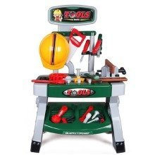 deAO Toys Kids' Workshop Role Play Set   Toy Workshop Bench & Tools