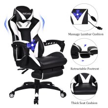 ELECWISH Gaming Chairs Massage Recliner Office Chairs with Footrest