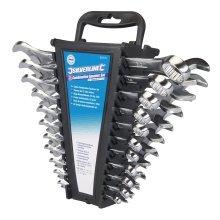 "Silverline Combination Spanner Set 22pce 6 - 22mm & 1/4 - 7/8"" - 633470 22 14 -  spanner set combination silverline 633470 22 22mm 14 78 22pce 1478"
