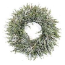 Artificial Pine Wreath With Frost