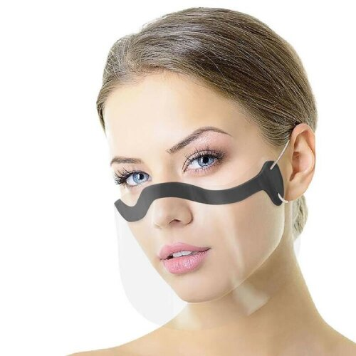 Half Face Visor Shield Face Visor Protection Mask PPE Mini Shield Transparent