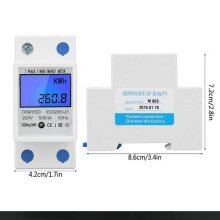 LCD Single-Phase Electricity Meter Calibrated