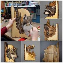 Lifelike Home Decor Animal Carving Handcraft Wall Hanging Handmade Gift Crafts