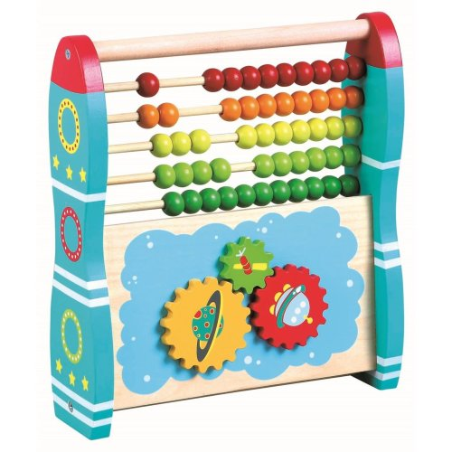 Lelin Wooden 2-in-1 Abacus - Rocket   Wooden Abacus Toy