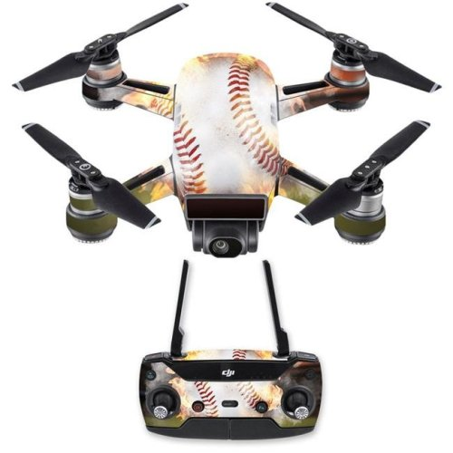 Mightyskins DJSPCMB-Fastball Skin Decal for DJI Spark Mini Drone Combo Sticker - Fastball