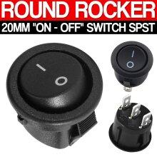 On/Off Round Rocker Switch Dashboard Kit Car Boat 12V
