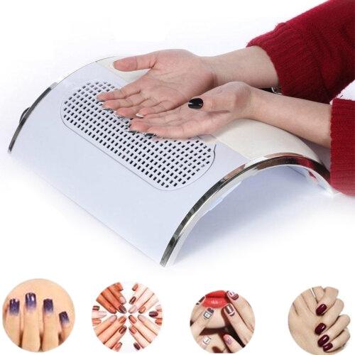 3 Fans Nail Vacuum Cleaner Manicure Dust Collector Suction Fingernail