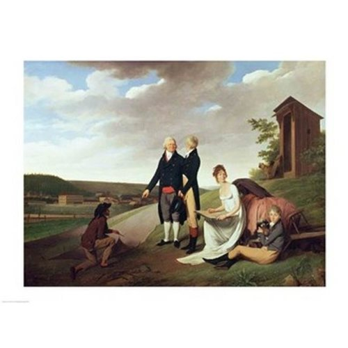 Christophe-Philippe Oberkampf & Family in Front of His Factory at Jouy Poster Print by Louis-Leopold Boilly - 24 x 18 in.