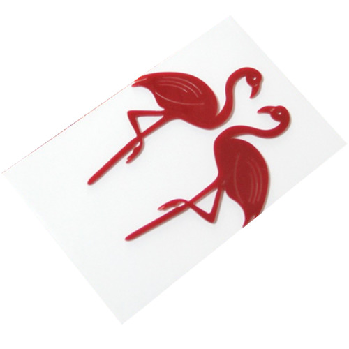 Tropical Flamingo Cake Toppers Red